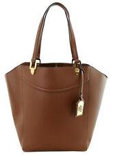 Ralph Lauren Lexington Tote Shopper Bag Bourbon Tan Brown Faux Leather RRP £165