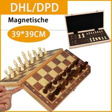 Magnetische Holz Schach 39*39cm Magnet Schachbrett Schachspiel mit Schachfiguren