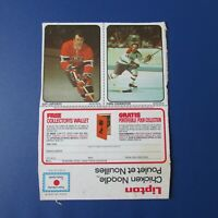 YVAN COURNOYER GUY LAPOINTE 1974-75 LIPTON UNCUT PANEL MONTREAL CANADIENS
