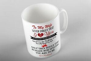 WIFE MUG CUP CUSTOM TEA COFFEE BIRTHDAY GIFT I LOVE YOU VALENTINES ANNIVERSARY
