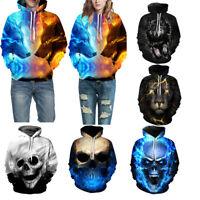 3D Print Men Women's Hoodie Sweatshirt Jacket Coat Pullover Graphic Loose Tops