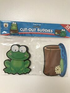 Carson Dellosa Frogs & Legs Cut-out Buddies 32 Pieces Never Used Factory Sealed