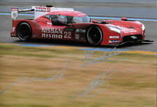 Tincknell / Buncombe / Krumm SIGNED 12x8 Nissan GT-R LM Nismo, Le Mans  2015