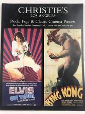 Christie's Los Angeles Rock Pop & Classic Cinema Posters, Auction Catalog 1996