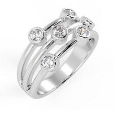 0.50ct Bezel Set Round Diamond Half Eternity in 18k White Gold