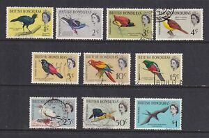 BRITISH HONDURAS 1962 Birds Definitive Set to $1 SG 202/211 USED