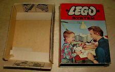 Lego 229 System 3 6x8, 2 2x8 weiße Platten Bausteine original Karton 1950 - 1960
