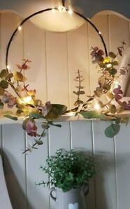 LED Wire Hoop With Eucalyptus