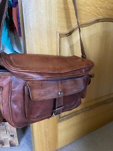 HAND MADE LEATHER DSLR CAMERA BAG LENS CASE SHOULDER BAG SATCHEL RUSTIC RETRO