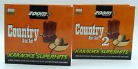 Zoom Karaoke CD+G - Ultimate Classic Country Superhits 1 & 2 Set - 6 CD+G Discs