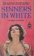 Midwood F146 Sinners In White Michael Avallone Vintage Sleaze Nurse Paperback