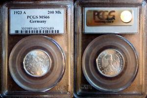 1923-A Germany 20 Mark PCGS MS66