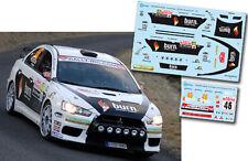 Decal 1:43 Ruben Gracia - MITSUBISHI LANCER EVO X - IRC Rally Montecarlo 2011