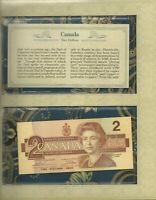 *Most Treasured Banknotes Canada $2 1986 UNC P94b Thiesen-Crow Prefix EBU