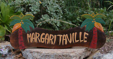 Margaritaville Wood Sign Beer Sign Nautical Tropical Palm Tiki Bar Man Cave 22""