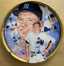 Micky Mantle Collectors Plate #252Cc Limited Edition Hamilton Collection
