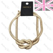 RETRO SLINKY herringbone chain KNOT COLLAR NECKLACE choker GOLD FASHION snake