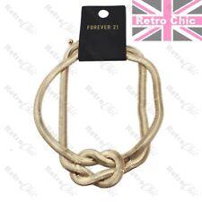 Collar Cadena Retro Slinky Herringbone Collar Gargantilla Oro Nudo Serpiente De Moda