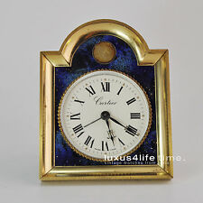 Cartier Pendulette Messing vergoldet und Lapis-Lack NY - wunderschön!