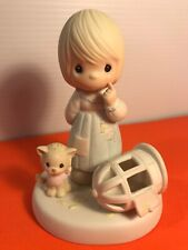 Precious Moments 100226 - The Lord Giveth & The Lord Taketh Away ~ 1987 Figurine