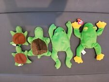 Turtles And Frogs / Pond Animals Lot Ty Beanie Baby Plush Doll