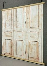 Painted Cabinets Canvas Photography Backdrop - Wood Mounted!