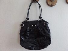große Damen-Handtasche Schwarz/Silberfarben von Orsay Lackleder