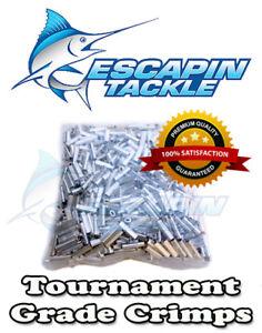 ALLOY Tournament Fishing Crimps. 100 x 2.0mm Long Crimp. Suit mono leader.