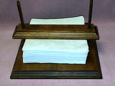 Wooden Napkin Holder with Poles & Bar to Hold Down in Windy Places Indoor or Out