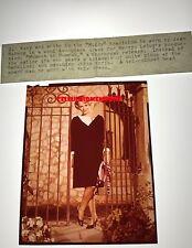 Original Transparency Vintage Jean Seberg Moment To Moment Wardrobe Shot & Snipe