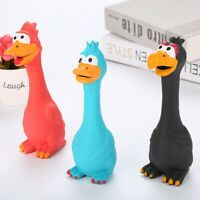 Screaming Chicken Pets Dog Cats Toys Squeeze Squeaky Sound Funny Safety Chew Toy