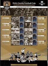 GB 2012 Notts County Football Club 150th Ann Commemorative Sheet CS19 MNH