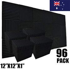 12/96pc Studio Acoustic Foam Sound Absorption Proofing Panel Wedge Karaoke