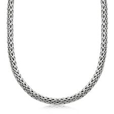 """18"""" Inch Wheat Chain Men's Necklace in Oxidized Sterling Silver Premium Quality"""