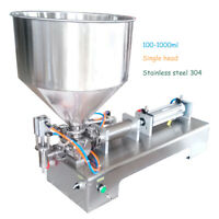 HOT 100-1000ml Automatic Filling Machine Honey/Cream/Cosmetic/Sauce/Tooth Paste