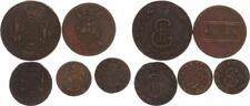 Russland Kopeken 5 Stück alte Sammleranfertigungen 1726-1773 ss-vz