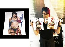 Wwe Asuka Hand Signed Autographed 8X10 Photo With Picture Proof And Coa 27