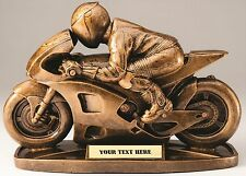 "AWESOME THREE DIMENSIONAL MOTORCYCLE RACING TROPHY 9 1/2"" CAR SHOW AWARD MRF2032"