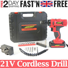 21V Cordless Combi Drill Driver Set Li-Ion Fast Charge Electric Screwdriver 29Pc