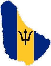 aufkleber sticker decal emblem flagge fahne landkarte karte Barbados