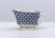 Gravy boat COBALT NET tableware,  Lomonosov Imperial Porcelain, RUSSIA, New