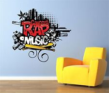 Gangsta Rap música Graffiti Wall Art pegatina de vinilo, gráficos, Stickers, Calcomanías, sg27