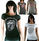 AMPLIFIED ROLLING STONES Strass Rock Star Tunika T-Shirt XS/S/M/L 34/36/38/40/42