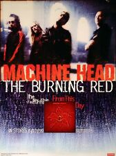 MACHINE HEAD 1999 THE BURNING RED PROMO POSTER ORIGINAL