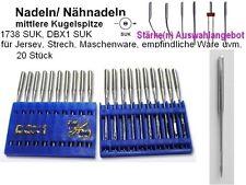 Nadeln DBX1 SUK, mittlere KUGELSPITZE; AUSWAHL 20 Stück