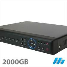 8 Channel 8CH Security D1 DVR 2TB Hard Drive  Installed - iPhone internet H264