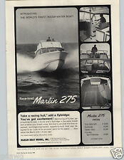 1965 PAPER AD Marlin 275 Racing Flybridge Shelter Cabin Sportsman Motor Boat