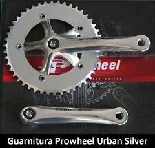 65SK Guarnitura singola Prowheel Urban Silver 46T per bici 20-24-26 Pieghevole