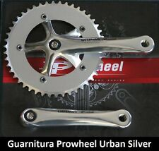 65SK Guarnitura singola Prowheel Urban Silver 46T per bici 26-28 Single Speed