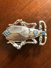 Blue Stone Rhinestone Insect Bug Stylish Fashion Women's Metal Belt Buckle